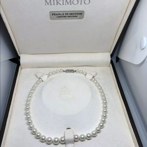 MIKIMOTO 9x7MM PEARL NECKLACE DIAMOND CLASP!!!